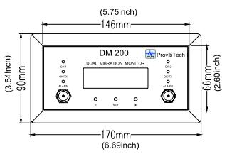 DM200 Двухканальный вибромонитор вид спереди