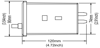 DM200 Двухканальный вибромонитор вид сбоку