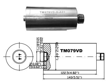 Низкочастотный датчик виброскорости/виброперемещения ТМ079VD-V/-H